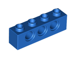 Technic, Brick 1 x 4 with Holes, Blue (3701 / 370123)