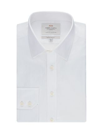 Рубашка Hawes & Curtis Men's Formal White Twill Slim Fit Shirt - Single Cuff - Easy Iron