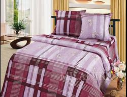 ФЬЮЖИН.  Комплект постельного белья из набивной бязи традиции текстиля, цельнокройное, хлопок 100%