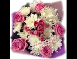 Букет с розами Розовая Карусель