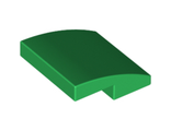 Slope, Curved 2 x 2 No Studs, Green (15068 / 6116259)