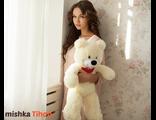 Плюшевый мишка Тихон 60 см белый Россия