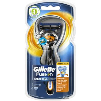 Gillette Станок Fusion PROSHIELD CHILL FlexBall (+1кассета)NEW(синий)
