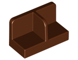 Panel 1 x 2 x 1 with Rounded Corners and Center Divider, Reddish Brown (93095 / 6133860)