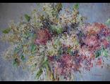 "Круглова Светлана. ""Аромат сирени"",  холст / масло,  50 х 70 см.,  2016 г."