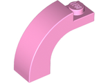 Brick, Arch 1 x 3 x 2 Curved Top, Bright Pink (6005 / 6250587)