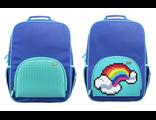 Школьный пиксельный рюкзак Upixel в ярких красках синий