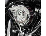 170-0435A S&S CYCLE Chrome Mini Teardrop Stealth Air Cleaner Kit for 2017-'19 HD® M8 Models