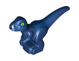 Dinosaur, Baby, Standing with Blue Markings and Yellow Eyes Pattern, Dark Blue (37829pb03 / 6256452)