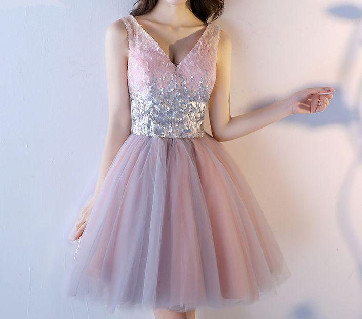 be1d8d7b9f3d34b Розовое коктейльное платье с пайетками и пышной юбкой - прокат платьев  Rentaholic в Уфе