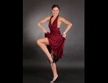 Платье-трансформер в пол цвета марсала(№469)