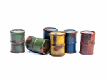 Metal barrels (painted)