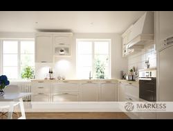 Кухонный гарнитур с фасадами Амальфи бежевая