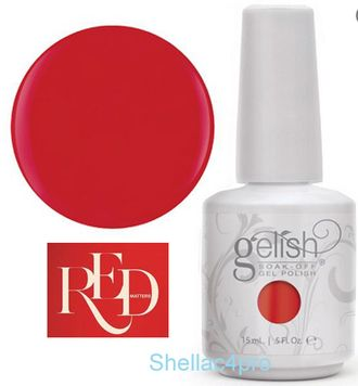 Gelish Harmony, цвет № 01079 Scandalous - Red Matters - Holiday Collection 2015