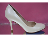 Туфли кожаные перламутр айвори средний каблук шпилька 7 см удобная колодка на свадьбу № Е123-254=254