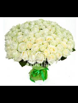 Букет из 101 белой розы White Naomi