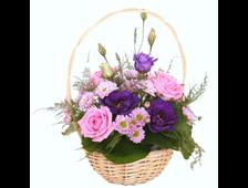 Корзина смешанных цветов Трепет