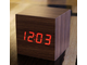 кубик, куб, cube, clock, часики, будильник, светодиодные, Led, время, деревянный, электронные, time