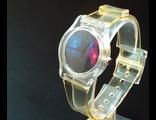 Часы на прозрачном пластиковом браслете (№407)