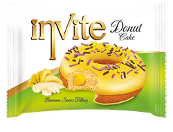 Пончик Invite Donut Banana, 40гр.