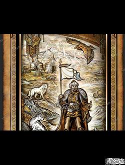 Герои казахских эпосов