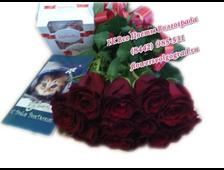 Букет шикарных 11 роз с конфетами Рафаэлло