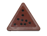 Road Sign Clip-on 2 x 2 Triangle with Nine Black Dots Pattern Sticker - Set 75092, Reddish Brown (892pb025)