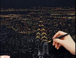 """Скретч-картина """"Нью-Йорк"""" 30*40"""