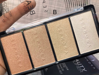 Палетка хайлайтер от Sephora Beauty Amplifier Highlighter palette