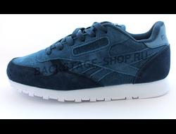Кроссовки Reebok Classic Navy Blue замшевые
