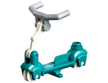 Kick Scooter with White Steering Link and Light Bluish Gray Angular Handlebars, Dark Turquoise (36273c01)