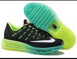 Кроссовки Nike Air Max 2016 черно-зеленые
