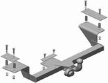 Фаркоп для Приора седан (ВАЗ 2170 и ВАЗ 2110, ВАЗ 2111с 2007г.в. по 2011г.в), Приора универсал (ВАЗ - 2171)