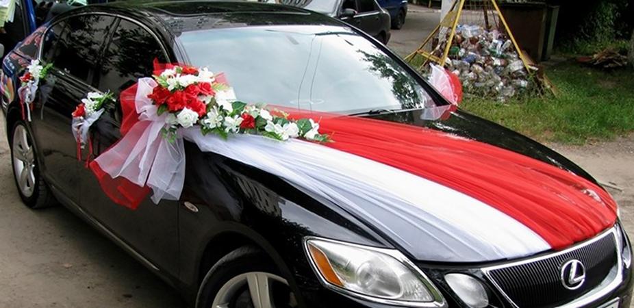 Украшения на авто для свадьбы