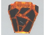 Wedge 4 x 4 Fractured Polygon Top with Black Facets Pattern, Trans-Orange (64867pb02 / 6132333)