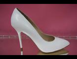 Свадебные туфли кожаные белые тонкий каблук острый мыс классические стильные модные купить магазин