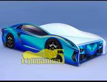 кровать машина ЛАМБО голубая