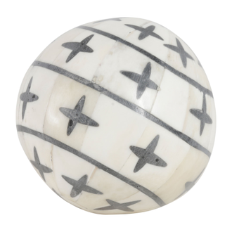 Шары декоративные DECORATIVE BALLS X3 OSTIA BLACK+WHITE D8CM BONEарт.31789