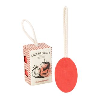 Французское мыло подвесное  200577 TOMATO APPLE SOAP W/ROPE POTAGER RED 200G-10.5X6.5
