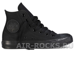 CONVERSE ALL STAR HI TOP MONO BLACK (Euro 35-40) M3310