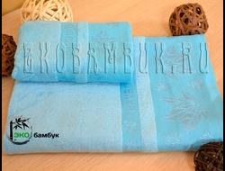 Бамбуковое полотенце спорт класс 48х98 Голубой Клен