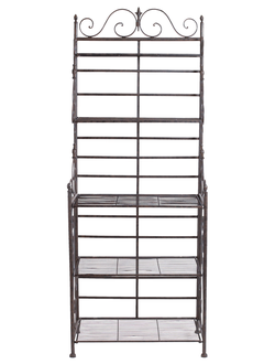 ПОЛКА SINGLE BAKERS RACK FER FORGE BROWN 70X42XH180 Металл Comptoir de Famille