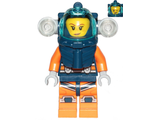 Deep Sea Diver - Female, Dark Blue Helmet, Side Lamps, Smirk / Left Eye Squinted, n/a (cty1169)