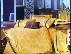 Артикул H014. Элитное постельное белье на 100% хлопковой основе с использованием шелковой нити,декорировано вышивкой