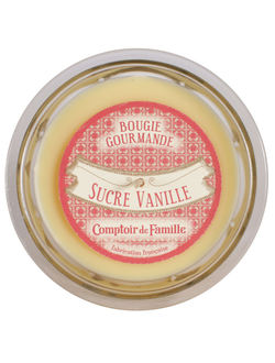 Свеча  SUCRE VANILLE GOURMANDE YELLOW D12XH8 Парафин Comptoir de Famille