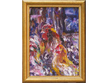 "Круглова Светлана. ""На вечерней зорьке"", картон / масло, 14 х 10 см., 2011 г."