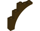 Brick, Arch 1 x 5 x 4 - Continuous Bow, Dark Brown (2339 / 4518606 / 6209722)