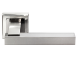 Дверные ручки Morelli DIY MH-37 SN/BN-S Цвет - Белый никель/черный никель
