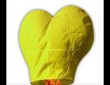 """Небесный фонарик """"Бриллиант"""" сердце (малый конус) 80х36 см Желтый"""