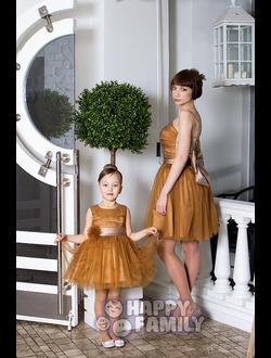 эксклюзивные нарядные платья для мамы и дочки в стиле Family look